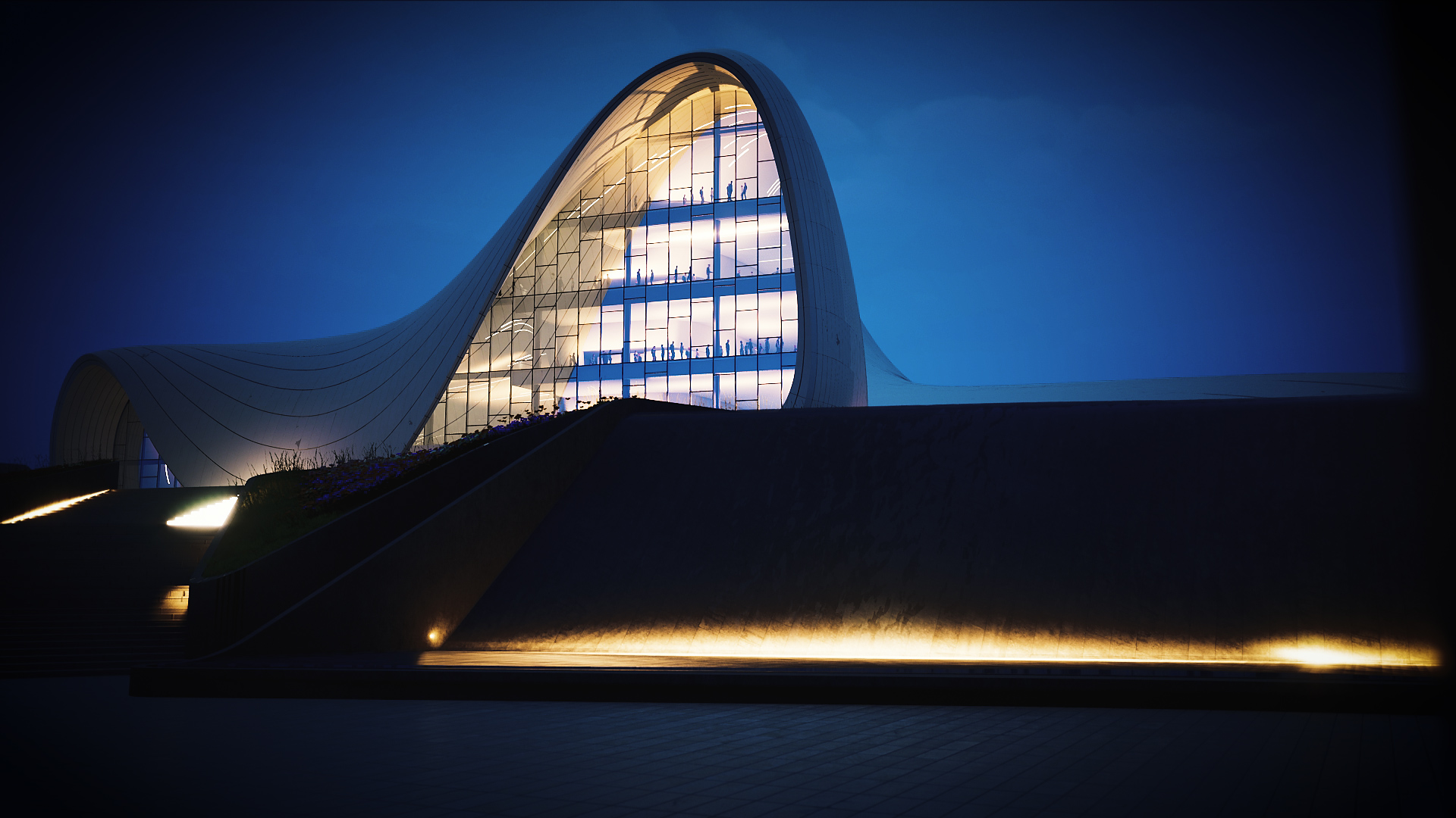 Heydar Aliyev Centre | Real Time Visualisation | Line Creative